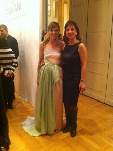 Con la carissima Elisabetta Pellini al temine della sfilata