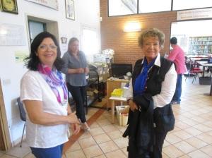 Maria Montori con la scrittrice Dacia Maraini prima dell'incontro
